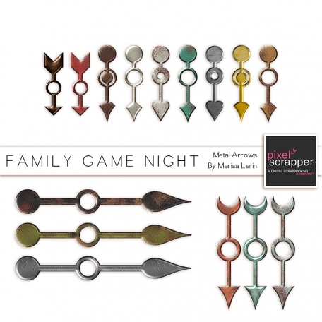 Family Game Night Metal Arrows Kit