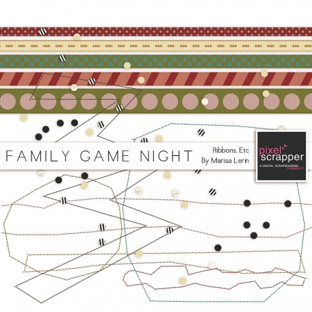 Family Game Night Ribbons & Stitching Kit