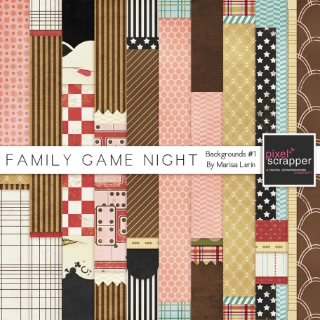 Family Game Night Background #1 Kit