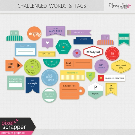 Challenged Words & Tags Kit