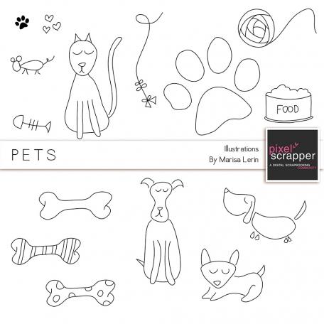 Pets Illustrations Kit