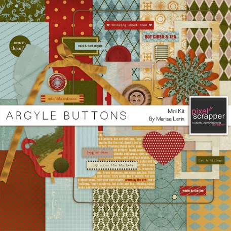 Argyle Buttons Mini Kit