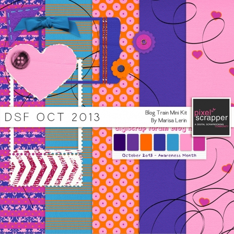 DSF October 2013 Blog Train Mini Kit
