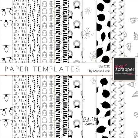 Christmas Paper Templates