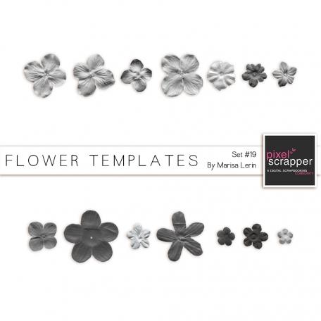 Flower Templates Kit #19