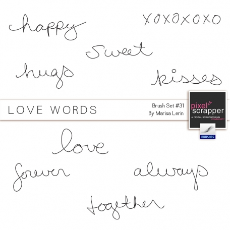 Love Words Brushes