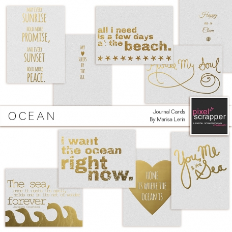 Golden Ocean Journal Cards Kit