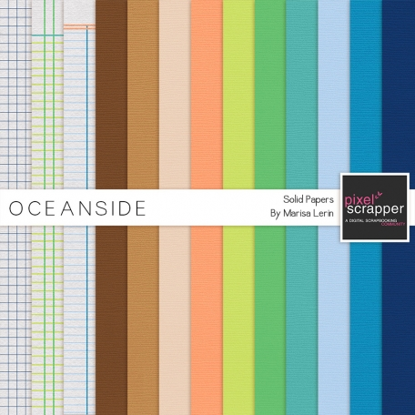 Oceanside Solid Papers Kit