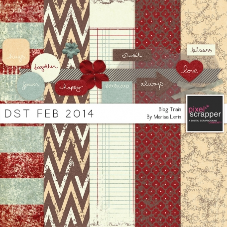 DST February 2014 Blog Train Mini Kit