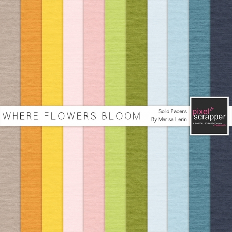 Where Flowers Bloom Solid Papers Kit