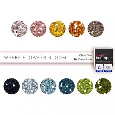 Where Flowers Bloom Glitters Kit