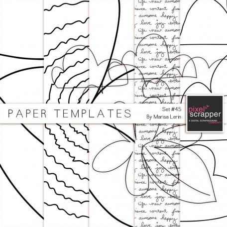 Paper Templates #45 Kit