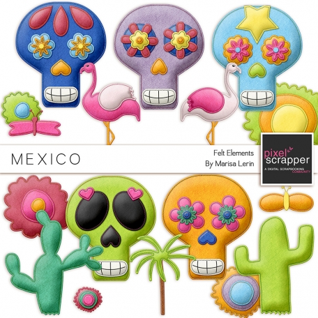 Mexico Felt Elements Kit