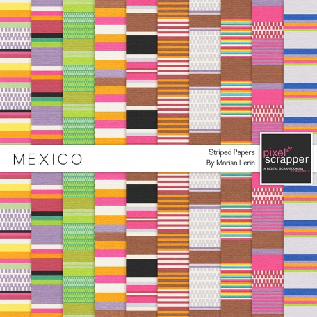 Mexico Striped Paper Kit