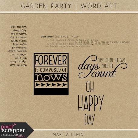 Garden Party Word Art