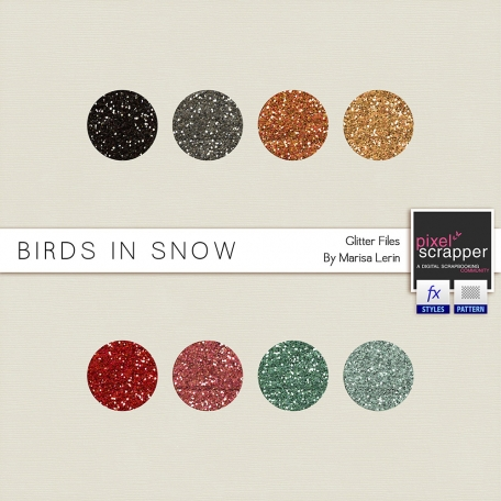 Birds in Snow Glitters