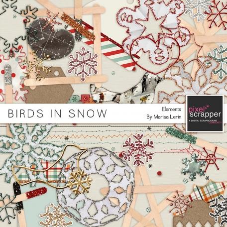 Birds in Snow Elements Kit