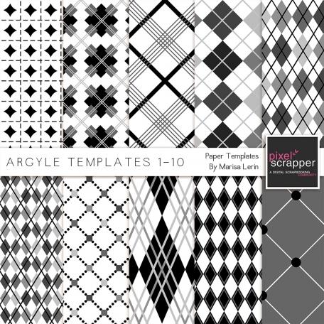 Argyle Paper Templates 1-10 Kit