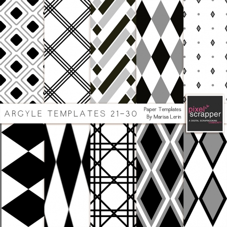 Argyle Paper Templates 21-30 Kit