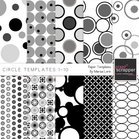 Circle Paper Templates 1-10 Kit