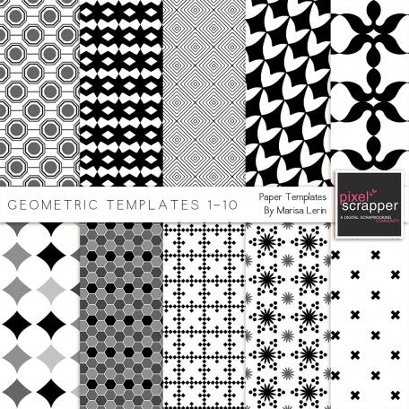 Geometric Paper Templates 1-10 Kit