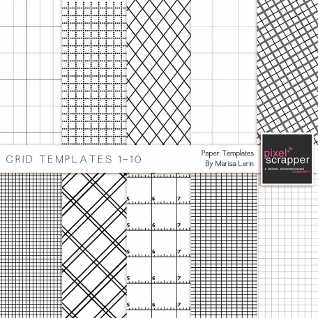 Grid Paper Templates 1-10 Kit