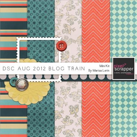 DSC August 2012 Blog Train Kit