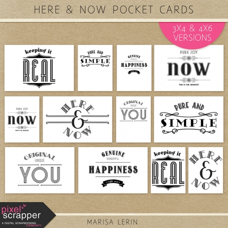 Here & Now Pocket Cards