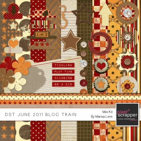 DST June 2011 Blog Train Kit