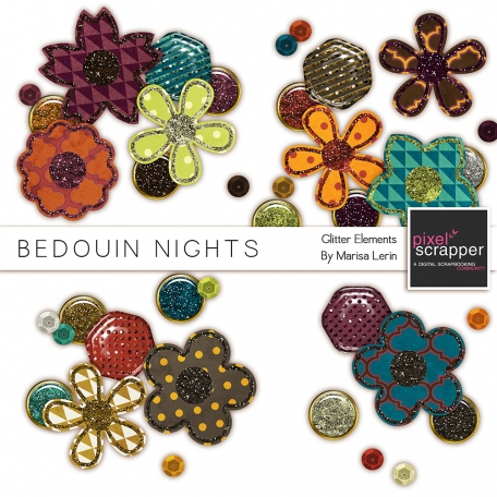 Bedouin Nights Glitter Elements Kit