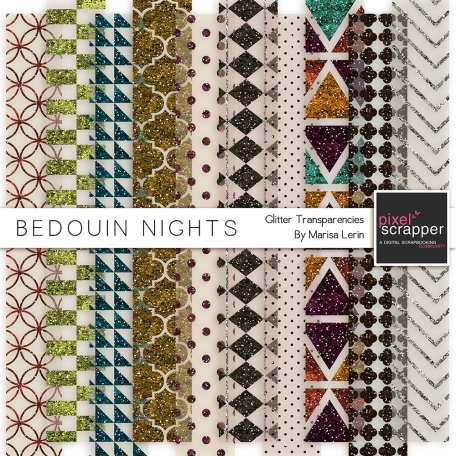 Bedouin Nights Glitter Transparencies Kit