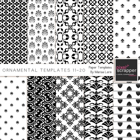 Ornamental Paper Templates 11-20 Kit