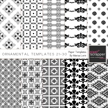 Ornamental Paper Templates 21-30 Kit