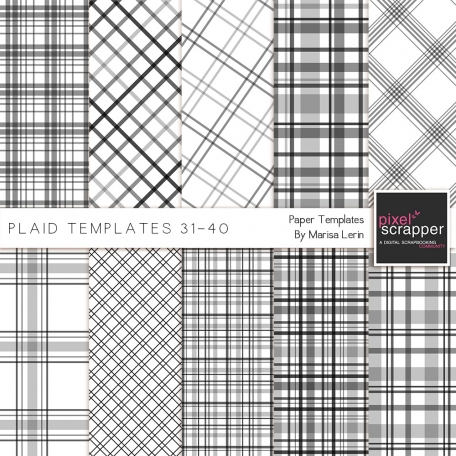 Plaid Paper Templates 31-40 Kit