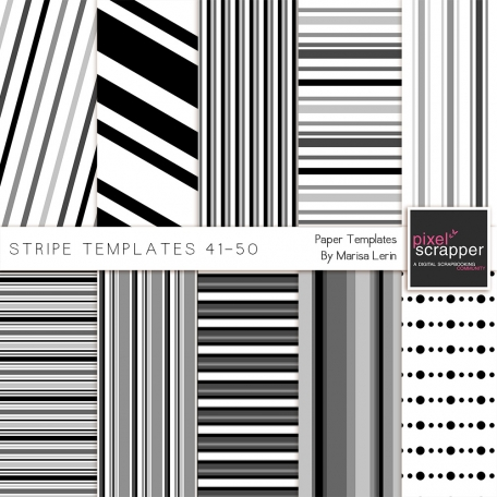 Stripe Paper Template Kit (41-50)