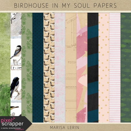 Birdhouse In My Soul Papers Kit #1