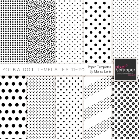Polka Dot Paper Templates Kit (11-20)