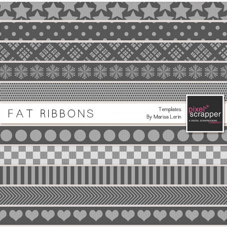 Fat Ribbon Templates