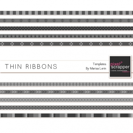 Thin Ribbon Templates