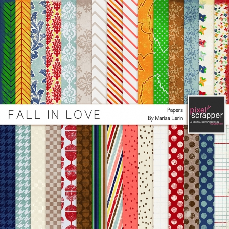 Fall In Love Papers Kit
