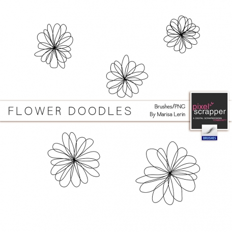 Flower Doodles #1 Kit