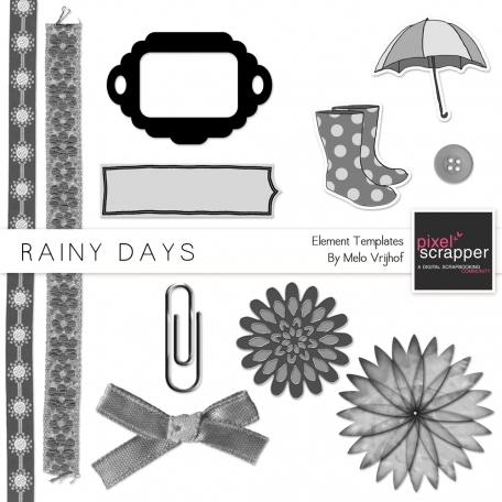 Rainy Days Element Templates Kit