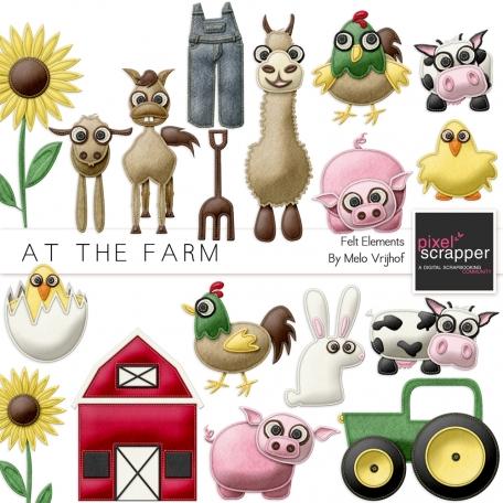 At The Farm Felt Animals Kit