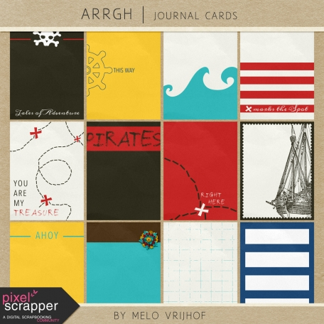 Arrgh! - Pirate Journal Cards Kit