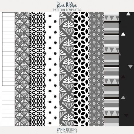 Ride A Bike - Papers & Overlays Template Kit