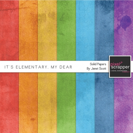 It's Elementary, My Dear - Solid Papers Kit