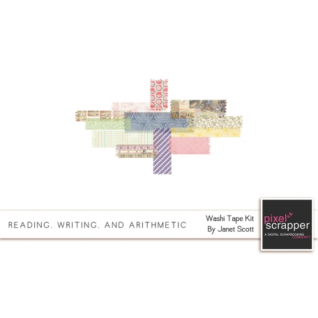 Reading, Writing, and Arithmetic - Washi Tape Kit