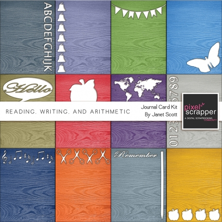 Reading, Writing, and Arithmetic - Journal Card Kit