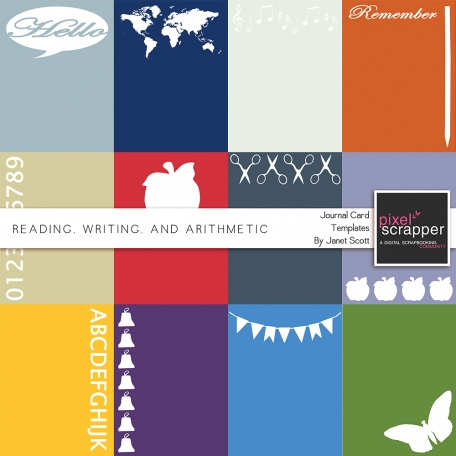 Reading, Writing, and Arithmetic - Journal Card Templates Kit