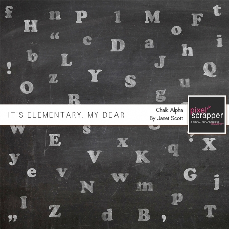 It's Elementary, My Dear - Chalk Alphabet Kit